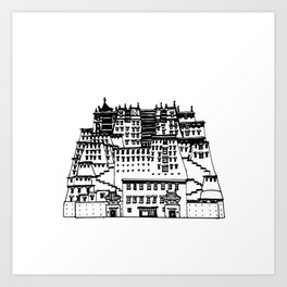 Potala Palace Art Print