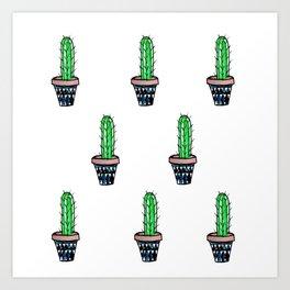 PATTERN II Geometric Cacti Art Print