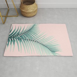 Intertwined - Palm Leaves in Love #2 #tropical #decor #art #society6 Rug