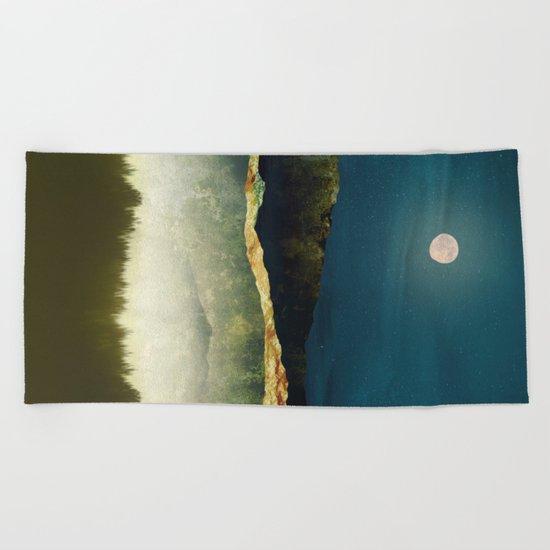 Midnight Moonlight Beach Towel