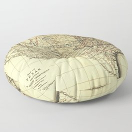 Natural Provinces, Map of Texas (1899) Floor Pillow