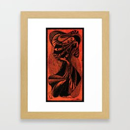 Walking I Framed Art Print