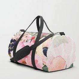 Pretty Pink Posies in Watercolor Duffle Bag