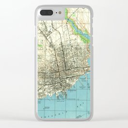 Vintage Map of Pensacola Florida (1944) Clear iPhone Case