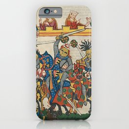 Medieval Tournament, 14th Century iPhone Case