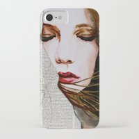 literary iPhone & iPod Cases featuring Literary Girl by Charlotte Massey