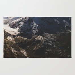 Hidden glacier in the Swiss Alps Rug