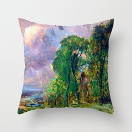 John Constable View of Hampstead Throw Pillow