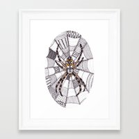 spider Framed Art Prints featuring Spider by Laura Maxwell