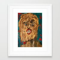 grunge Framed Art Prints featuring grunge  by Samantha Sager