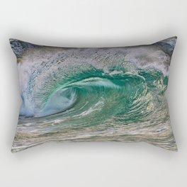 Green Glass Rectangular Pillow