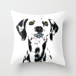 Dalmatian Dog Throw Pillow