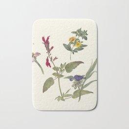 Pieter Ernst Hendrik Praetorius - Studies of wild flowers (1837) Bath Mat
