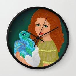 Meet a new friend: Little dragon Wall Clock