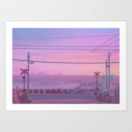 Peachy Morning Art Print