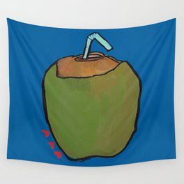 Fresh Coconut - ready to sip! Wall Tapestry