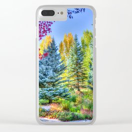Colorado Forest Clear iPhone Case