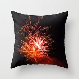 sparky night Throw Pillow