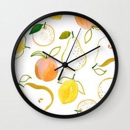 Fruit Salad by Lindsay Brackeen Wall Clock