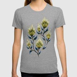 Fire Flower - Blue Gold T-shirt