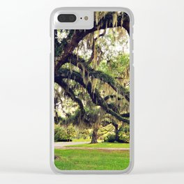 Live Oak Tree with Spanish Moss Clear iPhone Case