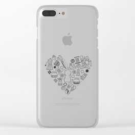 Vintage sewing Clear iPhone Case