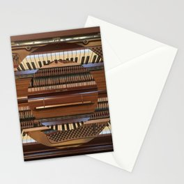 Abstract Upright Piano - Music, Classical, Geometric, Piano Keys, Music Notes Stationery Cards