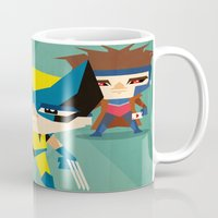 x men Mugs featuring X Men fan art by danvinci
