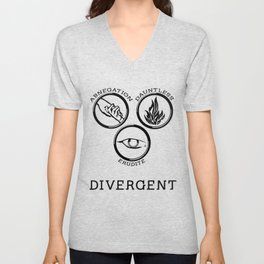 Divergent (Black) Unisex V-Neck