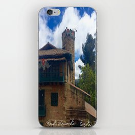 Mount Monserrate at Christmastime Maybe, Bogota, Colombia iPhone Skin