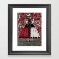 Snow-White and Rose-Red (1) Framed Art Print