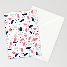Meli - abstract pattern minimal modern gender neutral art print for home office nursery dorm Stationery Cards
