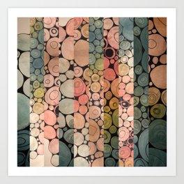 Fragmented Circles Art Print