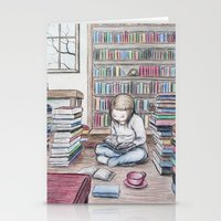 reading Stationery Cards featuring Reading by ejbeachy