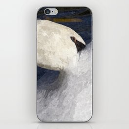 The Shy Swan Art iPhone Skin