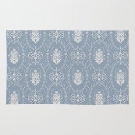 Grey damask pattern Rug