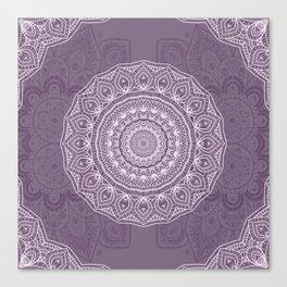 White Lace on Lavender Canvas Print