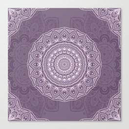 White Lace on Lavender Canvas Print