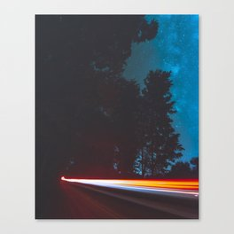 Longexposure Light trail Canvas Print