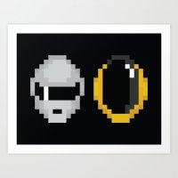Daft Pixels Art Print