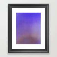 Pixel Purple Framed Art Print