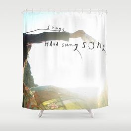 Hand Held Song Shower Curtain