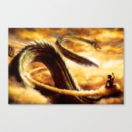 a ride with shenron Canvas Print