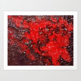 Red Cavern Art Print