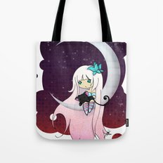 Silver Butterfly moon Tote Bag
