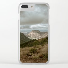 Big Bend Cloudy Mountaintop View - Lost Mine Trail - Landscape Photography Clear iPhone Case