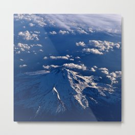 Mt. Hood Aerial Metal Print