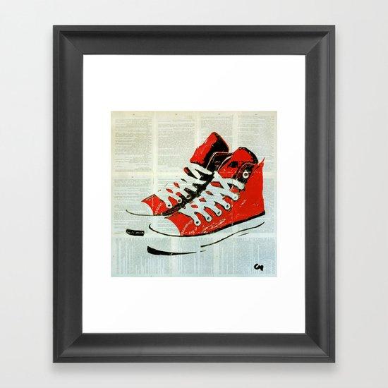 Sneakers. Framed Art Print
