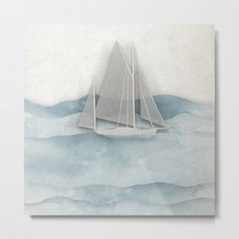 Floating Ship Metal Print