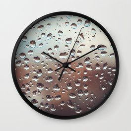 Wet Glass Wall Clock